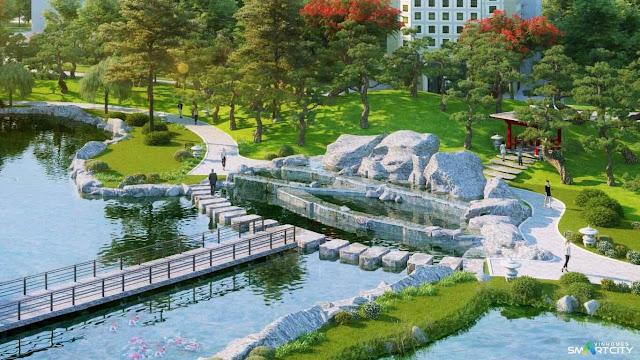 Núi đá nhân tạo chung cư Vinhomes Smart City
