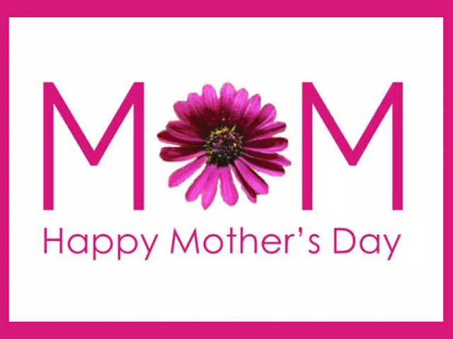 The letters M O M and Happy Mother's Day written below.