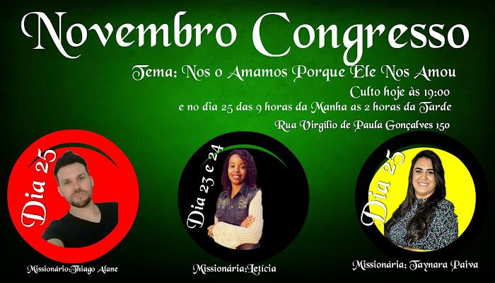 NOVEMBRO CONGRESSO IBEC E JOVENS ELEITOS