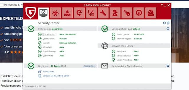 GDATA Antivirensoftware