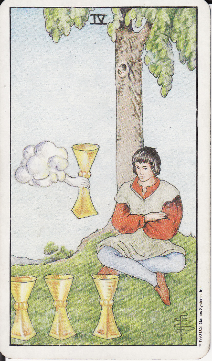 TAROT - The Royal Road: 4 FOUR OF CUPS IV