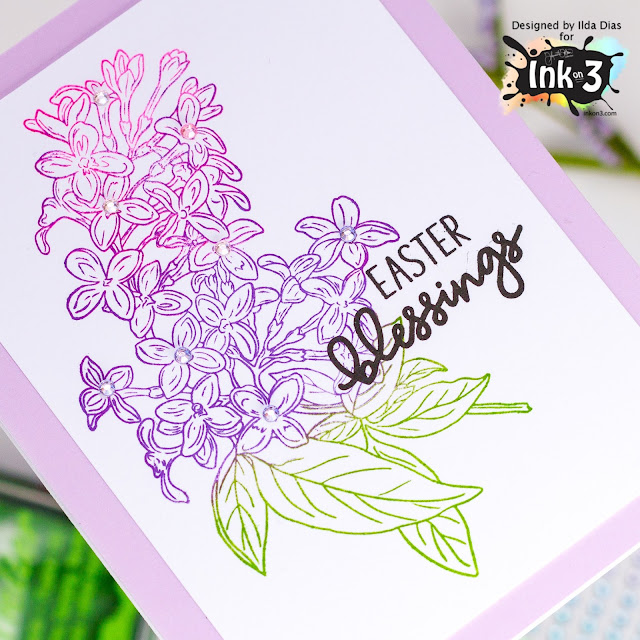 Lilac Dreams,Blessings,Easter Card,Ink On 3,Atelier Inks,card making,stamping,Die cutting,handmade card,ilovedoingallthingscrafty,Stamps,how to,