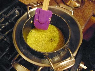 Stirred lemon peel