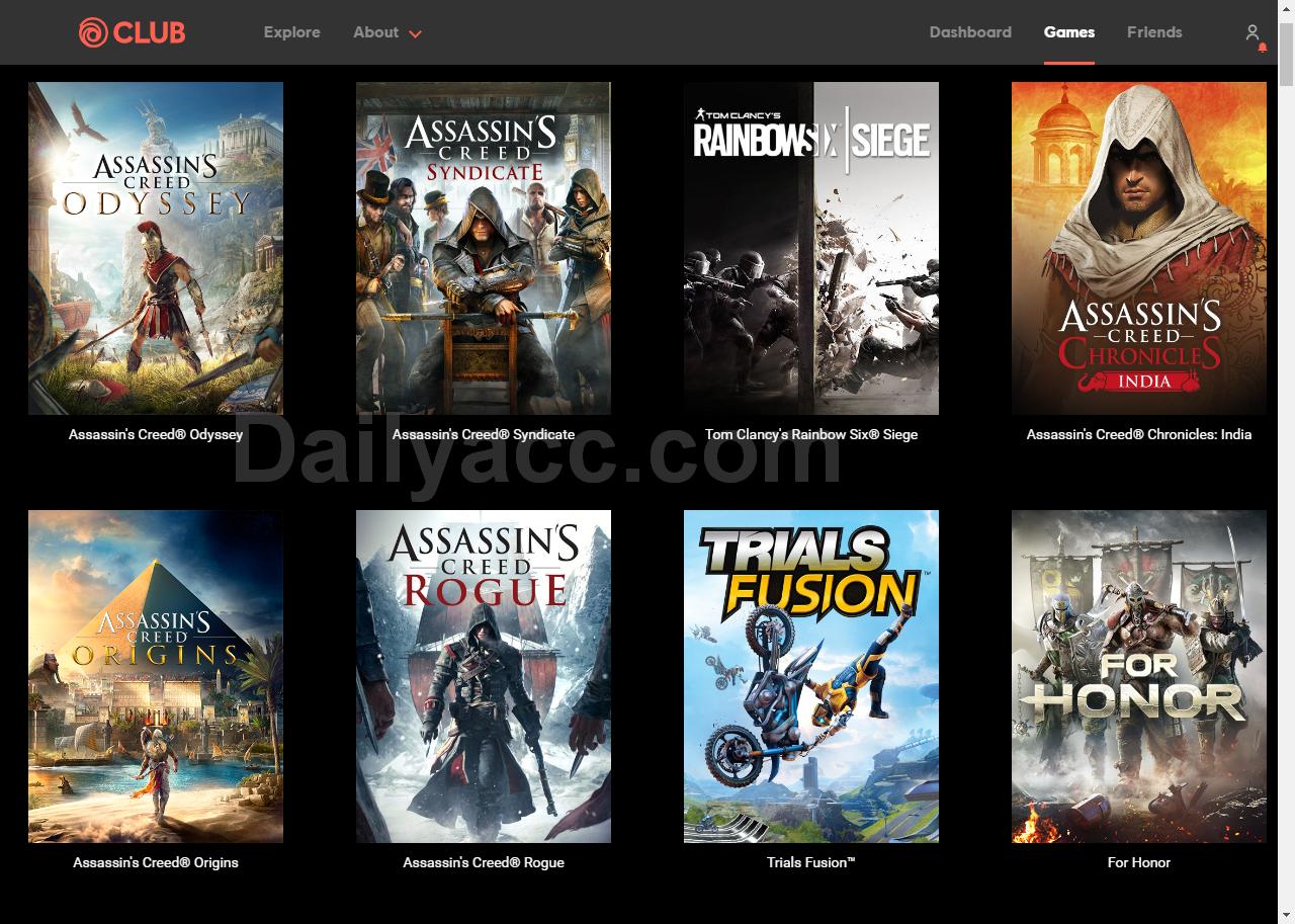 Ubisoft.com Accounts with Games October 12, 2018