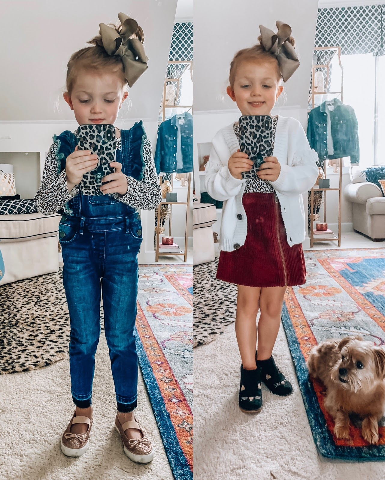 Target Fall 2019 Finds for Kids - Madeline's Picks - Ruffle Overalls, Cord Skirt, Fringe Sleeve Cardigan - Something Delightful Blog #Kidsfallfashion