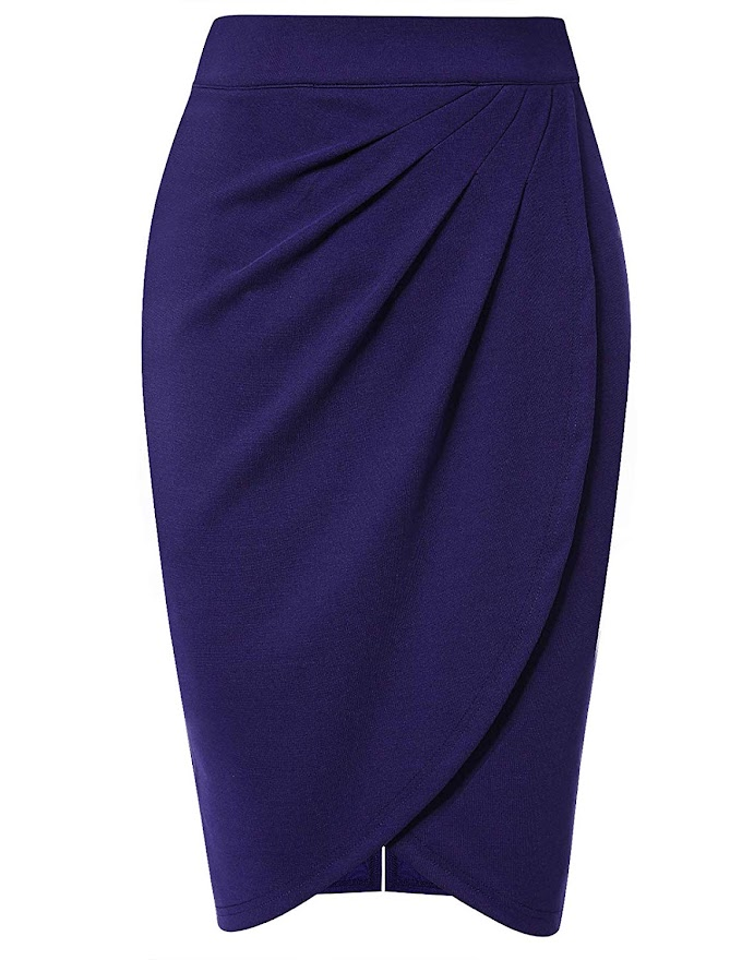 80% off High Waist Stretch Midi Bodycon Skirt,