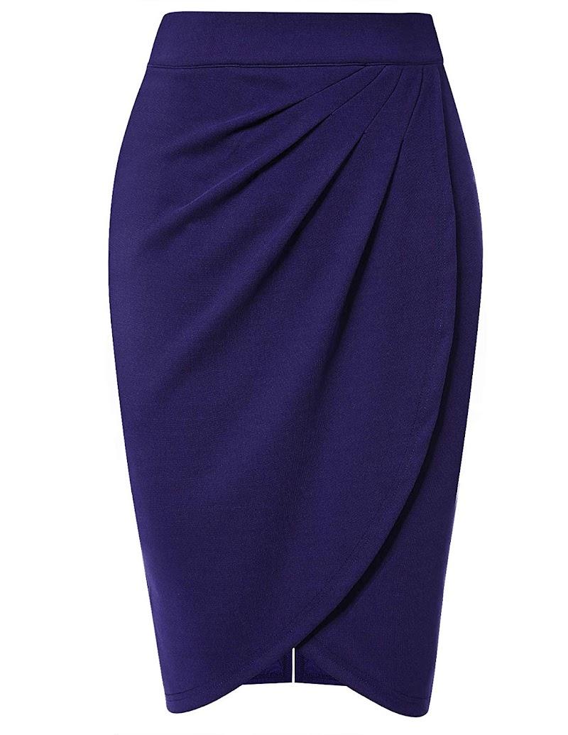 80% off High Waist Stretch Midi Bodycon Skirt,