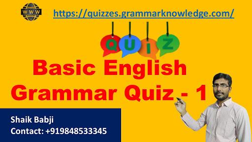 Basic English Grammar Quiz - 1