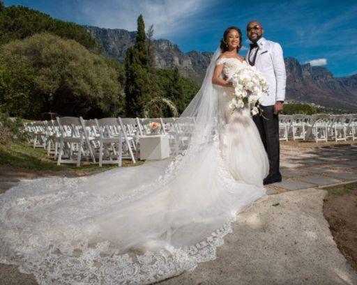 Banky W and Adesua's White Wedding (Photos)