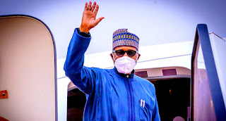 Nigeria President Muhammadu Buhar Returns From UK Medical Vacation