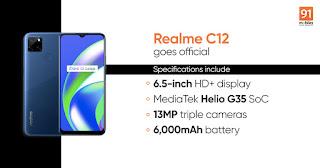 Realme C12 के स्पेसिफिकेशंस