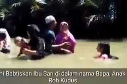 Heboh Video Pembaptisan Ibu-ibu Berhijab di Cikidang Sukabumi, Kata Camat Hoaks