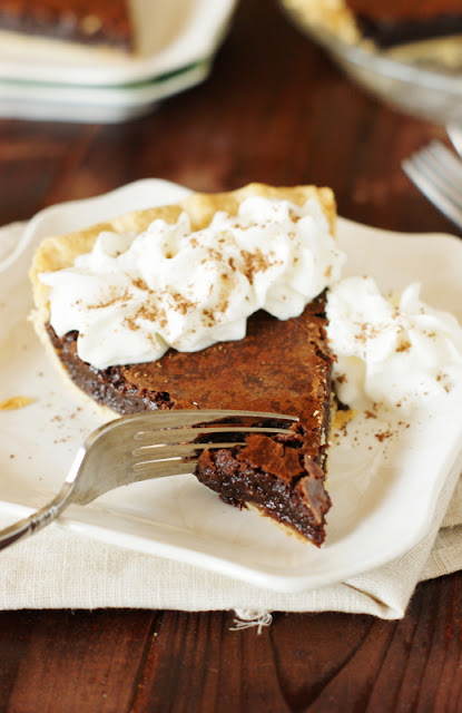 Chocolate Crack Pie with Whipped Cream image