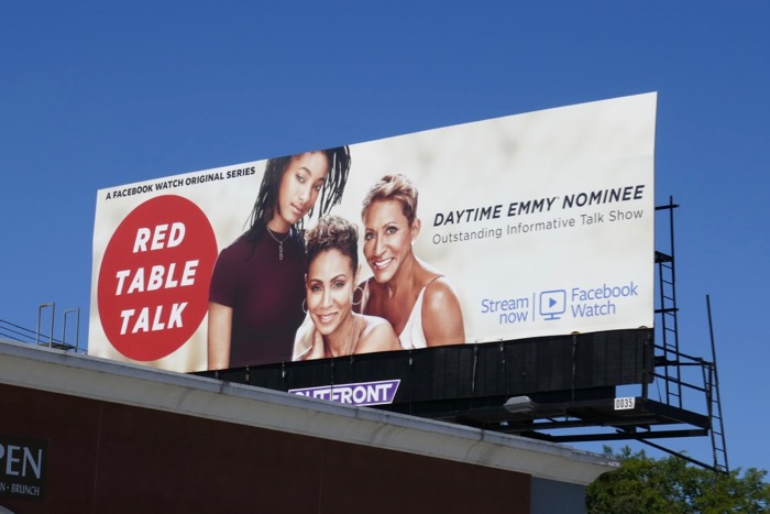 Red Table Talk Daytime Emmy nominee billboard