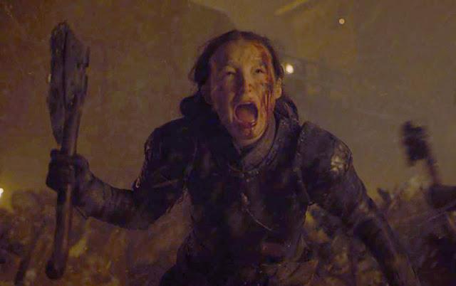 lyanna mormont mata al gigante en el capítulo 8x03 de juego de tronos