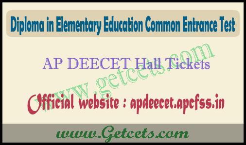 AP DEECET hall ticket download 2021-2022 @apdeecet.apcfss.in