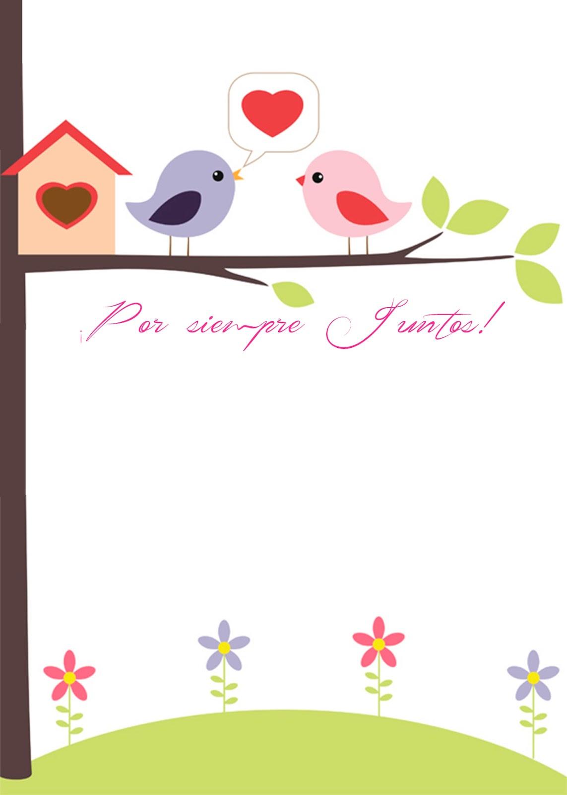 Tarjeta de Amor Pajaritos In Love para San Valentín
