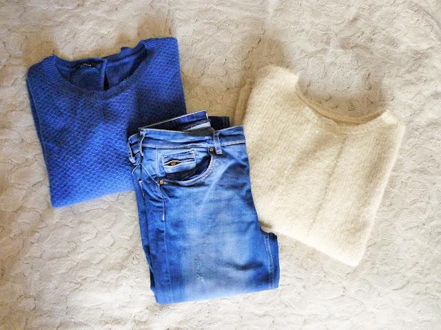 Pulls Promod et Harriswilson - jean bleu électrique promod