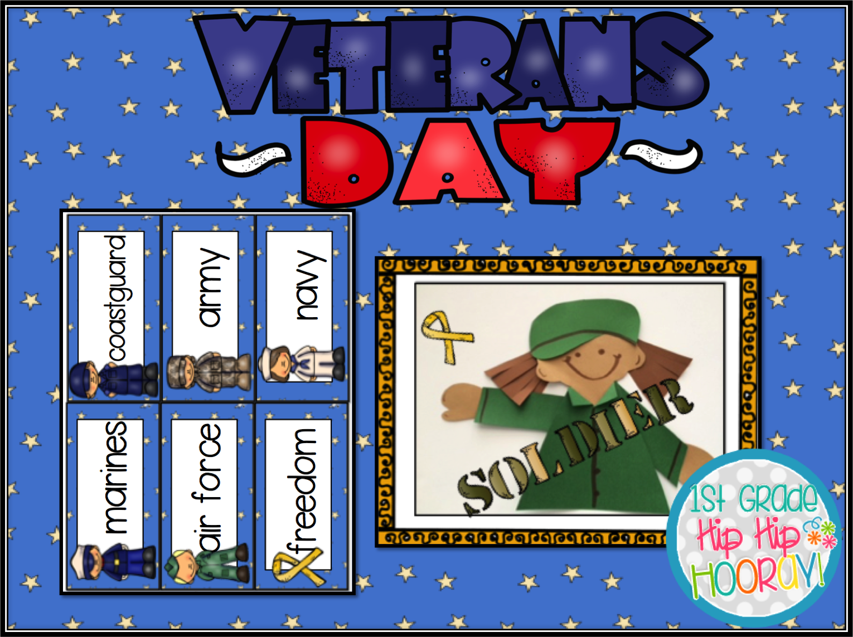 1st Grade Hip Hip Hooray Veterans Day Vember 11th