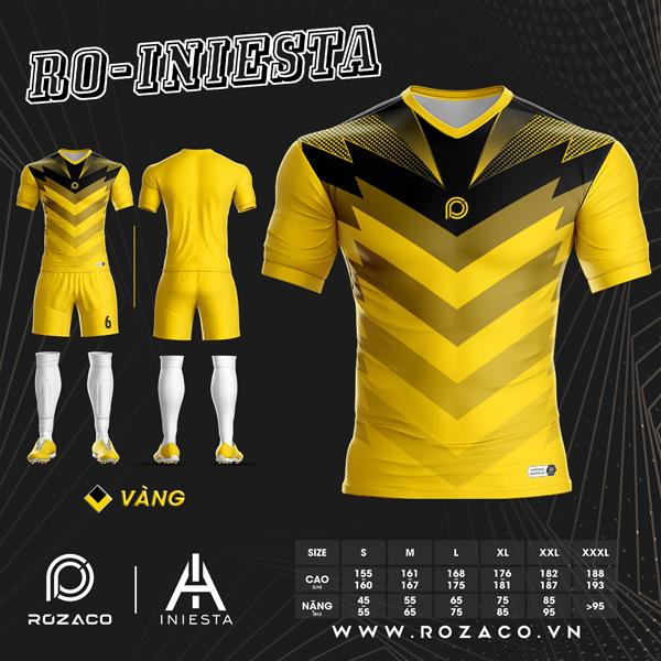 Áo Không Logo Rozaco RO-INIESTA Màu Vàng