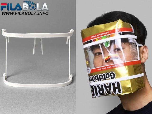 Unik !! Face Shield Bisa Bisa Dibuat Dari Bungkusan Bekas Apa Saja
