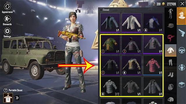 Solusi Setelah Update PUBG Baju Tidak Bisa Dipakai (Tanda Seru)