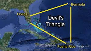 The Bermuda Triangle, also known as the Devil's Triangle