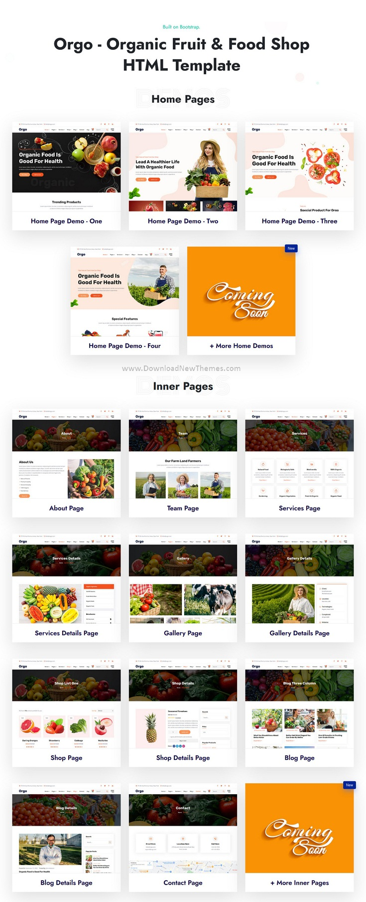 Organic Food Shop Website Template