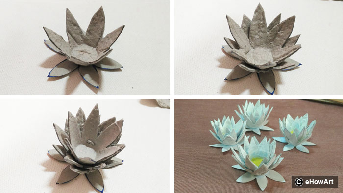 HOW TO MAKE THE WATER-LILY PHOTO FRAME WITH EGG BOXES? DIY BEST OUT ...