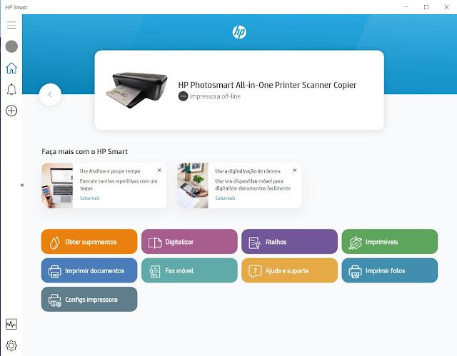 HP Smart em funcionamento
