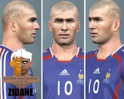 PES 2021 Faces Zinedine Zidane by Alireza