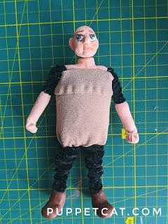 кукла из замозатвердевающей глины