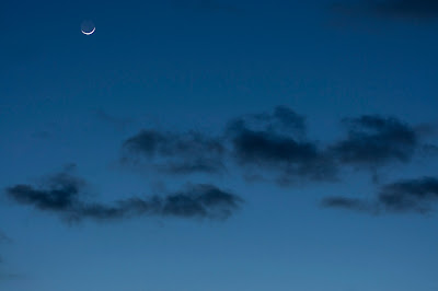 moon with earthshine
