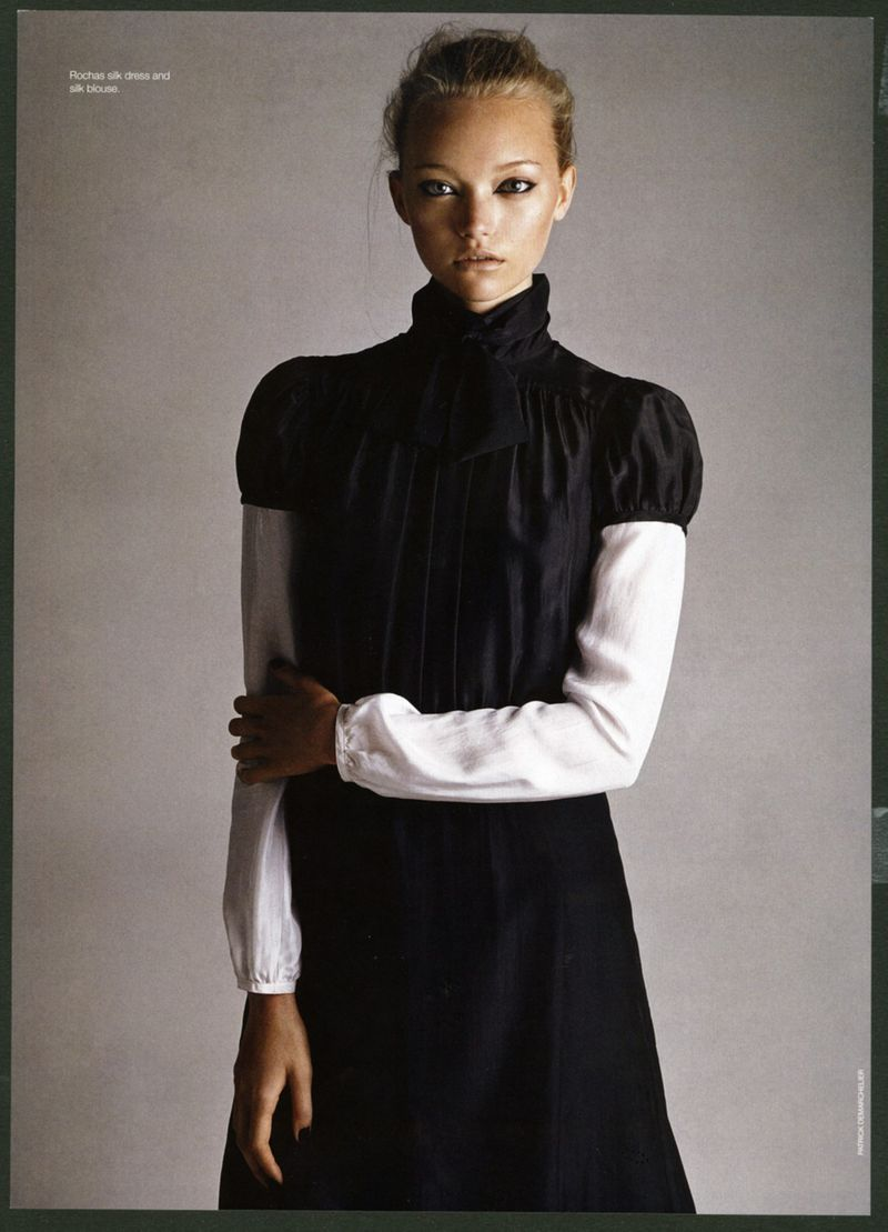 Fashion Editorial: Gemma Ward by Patrick Demarchelier for Vogue Italia December 2005