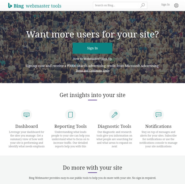 Blog ko bing webmaster tools me sumbit kaise kare (in hindi )