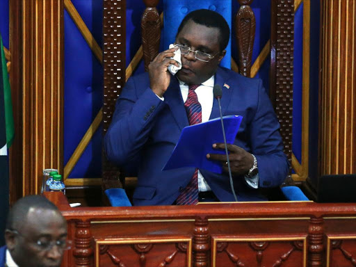 Speaker Kenneth Lusaka of Senate Assembly