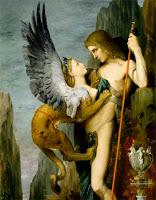 Pintura de Edipo Rei (Gustave Moreau)