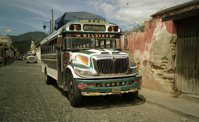 Guatemala chicken bus