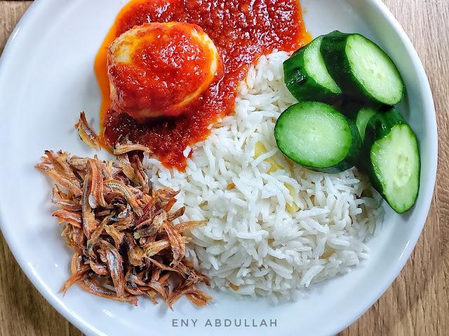 Nasi lemak basmathi, nasi lemak beras parboiled, resepi nasi lemak rice cooker, nasi lemak mudah, nasi lemak peroi