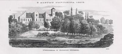Дворец в Наднёмане. Гравюра Наполеона Орды. Кон. XIX века