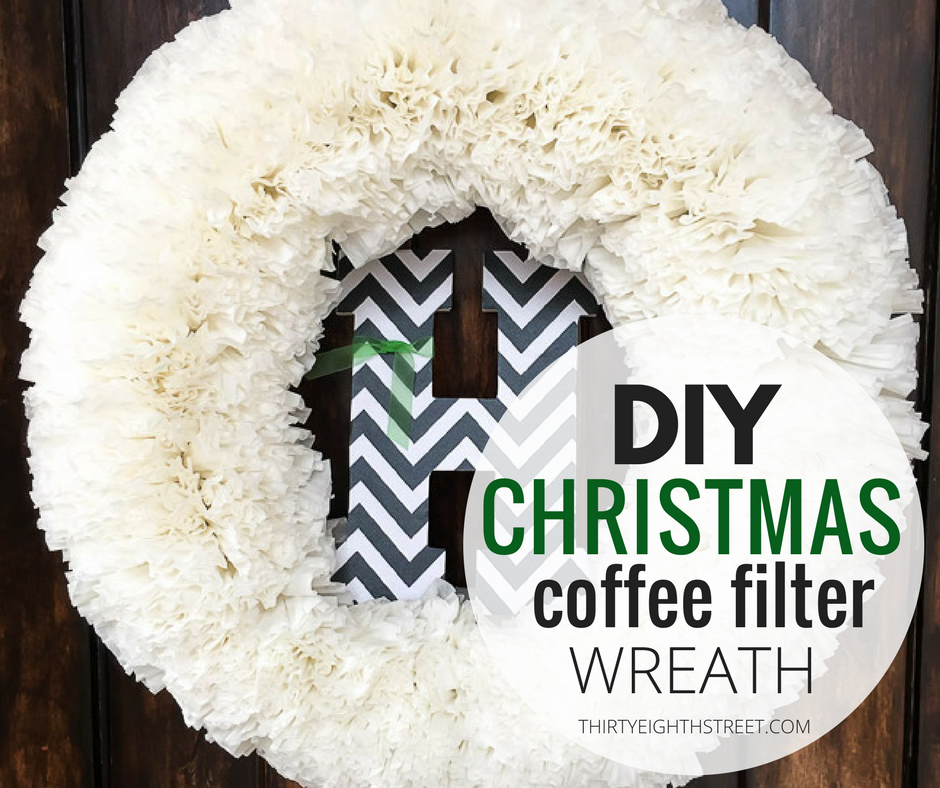 how to make a coffee filter wreath, paper wreaths, outdoor wreaths, diy christmas wreaths, holiday wreaths, christmas coffee filter wreath