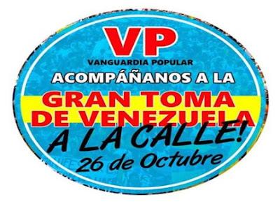 Comunicado de Vanguardia Popular: Diálogo y Toma de Venezuela