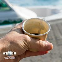 Kleinster Kaffee, den ich je hatte auf meiner WELTREISE, auf den Malediven!