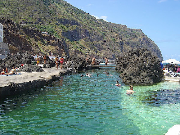 natural swimming pools at porto moniz madeira