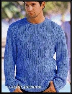 mujskoi-pulover-spicami | trikote | adīšana | mezgimas