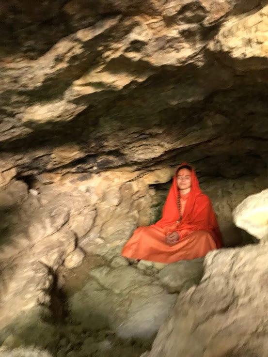 "MATAJI IN THE TATri Siddha Cave ""LA CUEVA NEGRA"" (Dark Cave) on the Roman Sanctuary of Fortuna, Murcia, Spain"