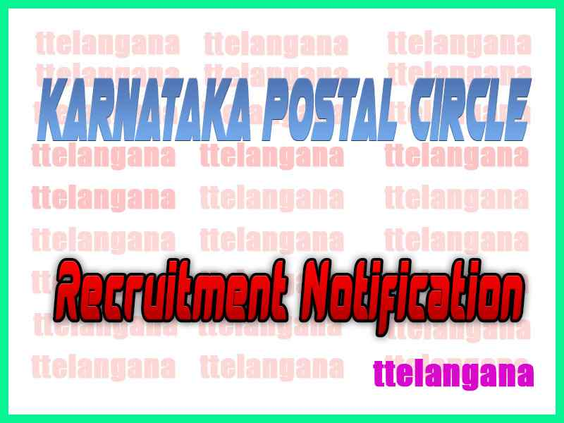Karnataka Postal Circle Recruitment Notificaton