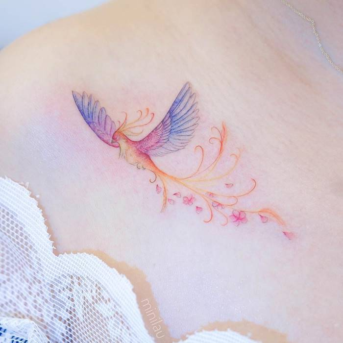 Hong Kong tattoo artist Minnie Lau Delicate mini tattoos that uou want to take a closer look, Mini Lau small tattoo designs, lean and fine line tattoos, watercolor tattoos, tattoos for girls