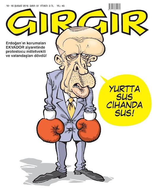 Gırgır Dergisi - 10-16 Şubat 2016 Kapak Karikatürü