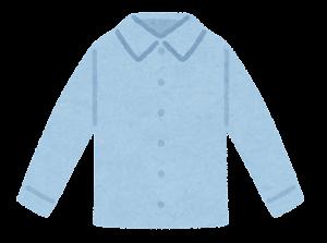 シャツのイラスト(水色)